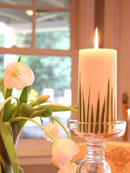 تزیین شمع هفت سین,ایده های تزیین شمع هفت سین