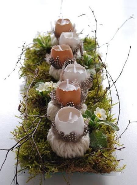 نحوه تزیین شمع با برگ, ایده برای تزیین شمع