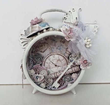 ساخت دکوری با ساعت کوکی های قدیمی,تزیین ساعت های قدیمی