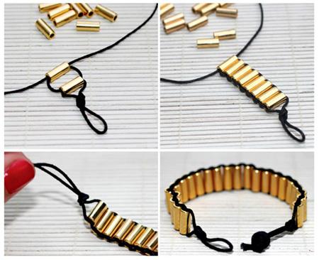 آموزش بافت دستبند خانگی, بافت دستبندهای ساده