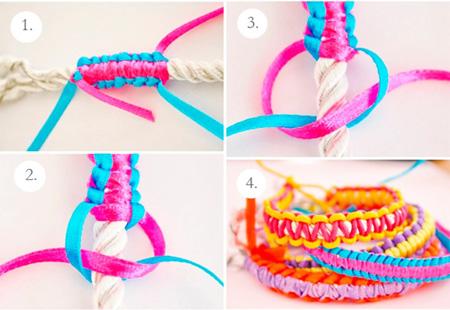نحوه بافت دستبند, آموزش تصویری بافت دستبند