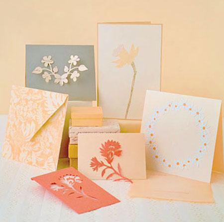 نمونه های کارت پستال دست ساز, ساخت کارت پستال
