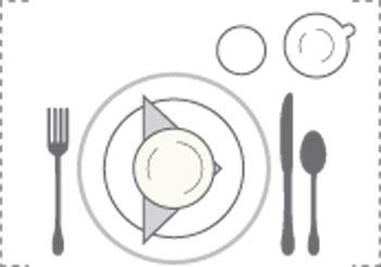 نحوه چیدمان میز غذا،چیدمان میز شام رسمی و شیک