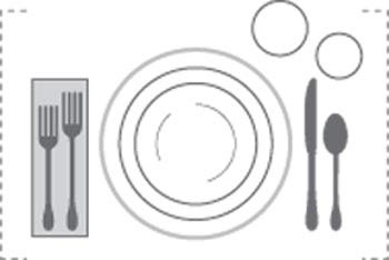 مبانی چیدن میز ناهار, چیدمان های شیک میز شام