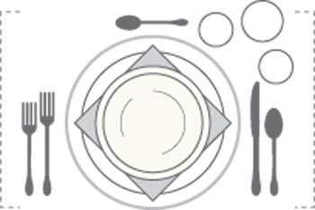 مبانی چیدن میز میان وعده,چیدن میز ناهار