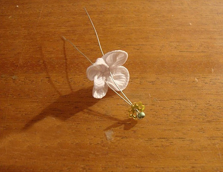 درست کردن شکوفه با روبان, آموزش تصویری روبان دوزی