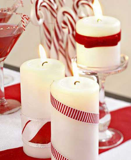 تزیین شمع های رومانتیک, تزیینات زیبای شمع