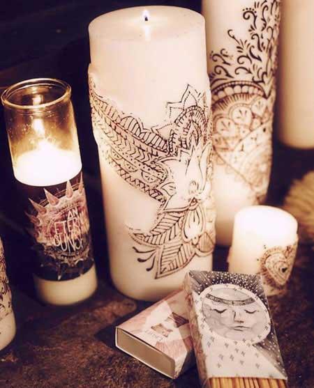 تزیین رومانتیک شمع, تزیین شمع های رومانتیک