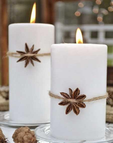 تزیینات زیبای شمع,تزیین شمع های ساده