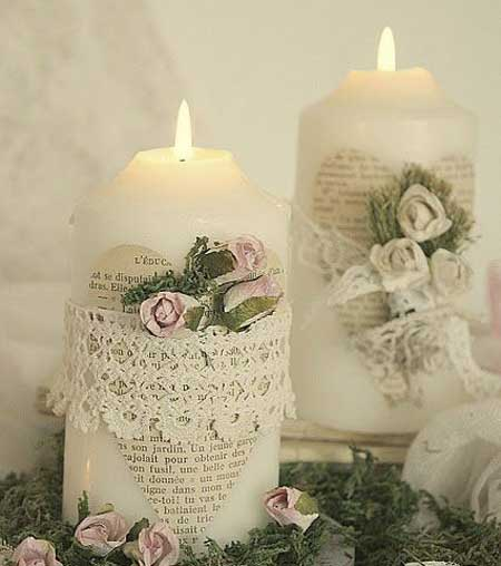 تزیینات زیبای شمع,ایده برای تزیین شمع