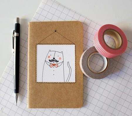 جلد گرفتن دفتر با پارچه,اموزش جلد گرفتن کتاب با چسب
