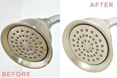 تمیز کردن دوش حمام,از بین بردن رسوبات دوش