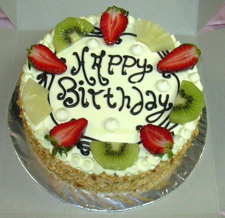 نمونه های تزیین کیک با میوه, تزیینات کیک اسفنجی