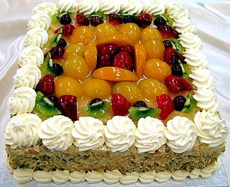مدل های تزیین کیک با میوه| تزیین کیک اسفنجی