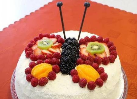 تزیین کیک با میوه| تصاویر تزیین کیک با میوه
