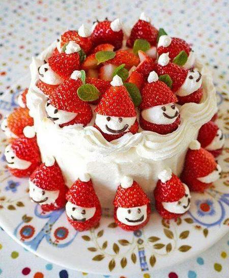 تزیین کردن کیک با میوه, تزیین کیک تولد با میوه