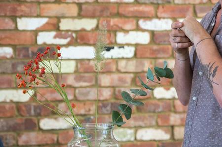 تزیین دسته گل طبیعی,نحوه تزیین دسته گل طبیعی