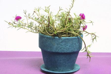 آموزش تزیین گلدان,نحوه پوشاندن گلدان با پارچه