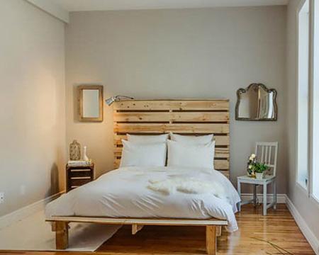 مدل ساخت تخت خواب با پالت های چوبی
