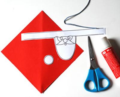 آموزش تزیین دستمال سفره به شکل بابانوئل,تزیین سفره برای کریسمس