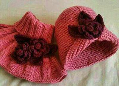 آموزش بافت شال و کلاه,بافت شال و کلاه دخترانه