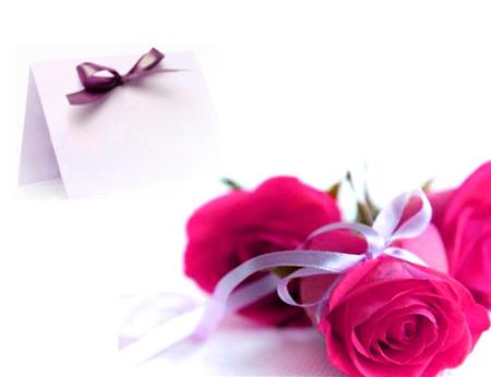 کارت پستال های دست ساز با گل,کارت پستال گل