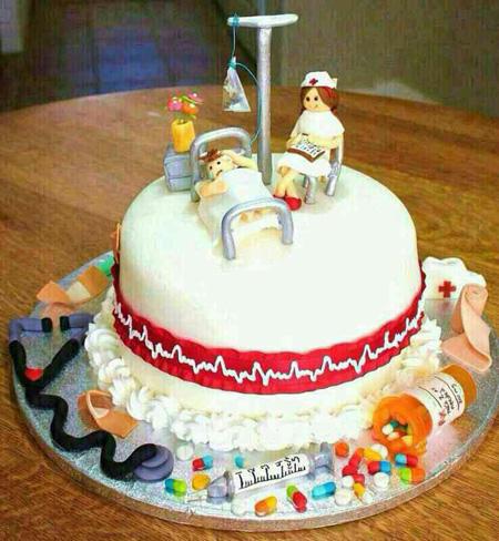 کیک تبریک روز پرستار,کیک های روز پرستار