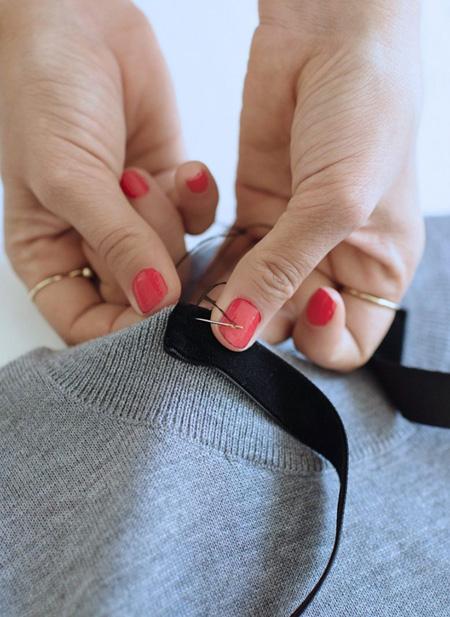 آموزش تغییر دادن یقه لباس, یقه لباس ساده