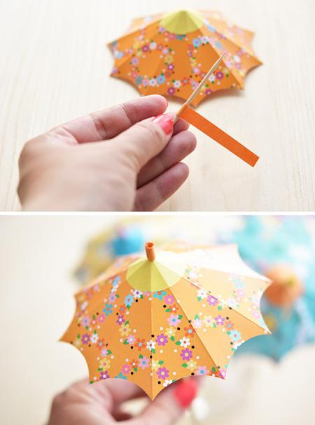 نحوه ساخت چتر تزیینی, درست کردن چتر تزیینی