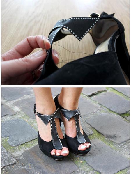 تغییر ظاهر کفش های قدیمی,آموزش تصویری تغییر کفش