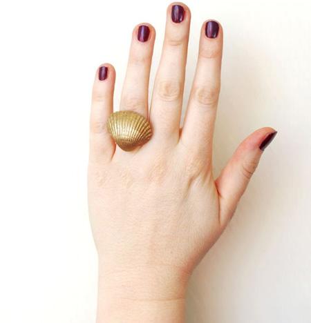 ساخت انگشتر صدفی,آموزش ساخت انگشتر صدفی