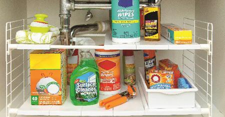نظم دهی کابینت زیر سینک,نگهداری وسایل در آشپزخانه