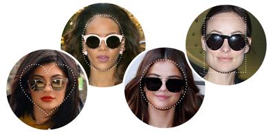 نکاتی برای انتخاب عینک آفتابی,عینک آفتابی مناسب صورت