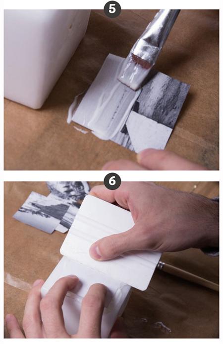 آموزش مرحله ای دکوپاژ روی شمع,نحوه چاپ عکس روی شمع