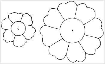 طرح گل نمدی طرح رومیزی گل بلندر مخملی