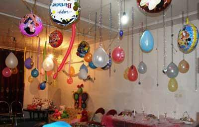 تزئینات جشن تولد, دکوراسیون جشن تولد