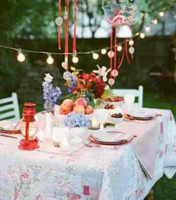 تزیین میز غذا خوری , تزیین خانه برای مهمانی