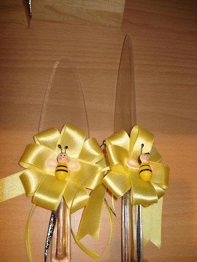 تزیینات چاقو کیک , تزیین جام و چاقو