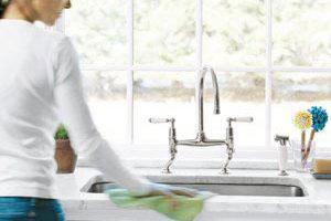 نحوه تمیز کردن سینک ظرفشویی , شستشوی سینک ظرفشویی