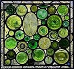 استفاده از شیشه های اضافی در باغ , تزیینات باغ