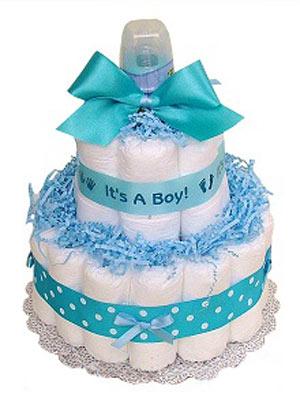 آموزش درست کردن کیک با پوشک,تزیین سیسمونی