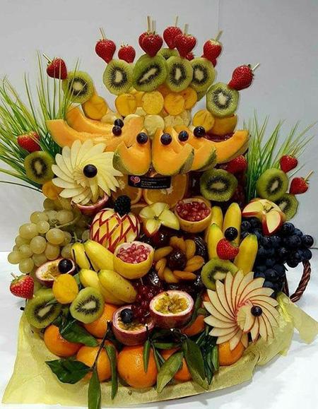 میوه آرایی شب یلدا , تزیین میوه های شب یلدا