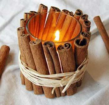 ساخت جاشمعی زیبا , ساخت جاشمعی با چوب دارچین
