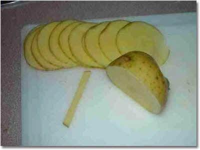 آموزش طرز پخت چیپس سیب زمینی به شکل گل رز