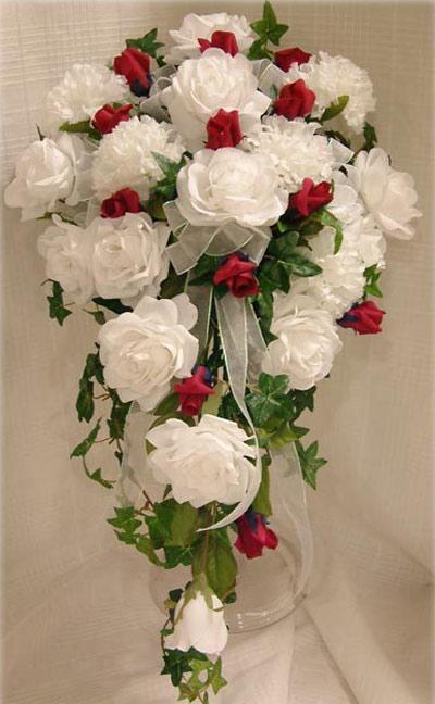 مدل دسته گل سال 95 آبشاری عروس