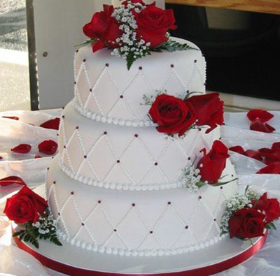 red and white wedding cake decorations عکس کیک عروسی سری ششم 19098