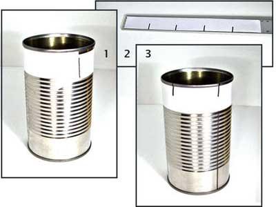 ساخت قالب شیرینی بااستفاده ازقوطی کنسرو