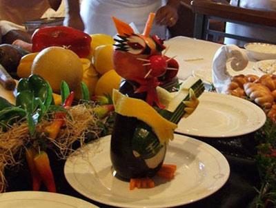 اشپزخانه هایی با پارچ قدیمی مدل هایی زیبا از تزئین میوه به شکل حیوانات