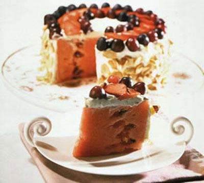 تزئین هندوانه, تزئین هندوانه به شکل کیک