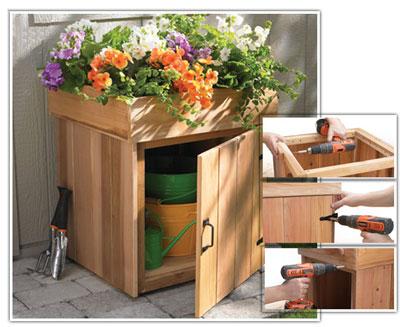 جعبه ای برای وسایل باغبانی